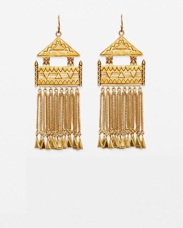 A Peace Treaty Amesha Gold Earrings
