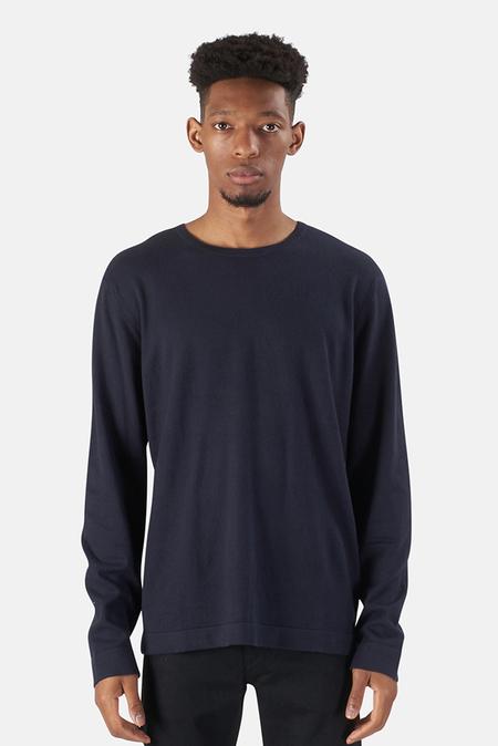 Wheelers.V Reade Long Sleeve T-Shirt - Navy