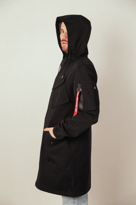 Alpha Clothing Duster W.P. Field Coat - Black
