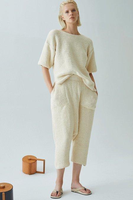 Atelier Delphine Kiko Knitted Pima Cotton Pant - All Provence Linen