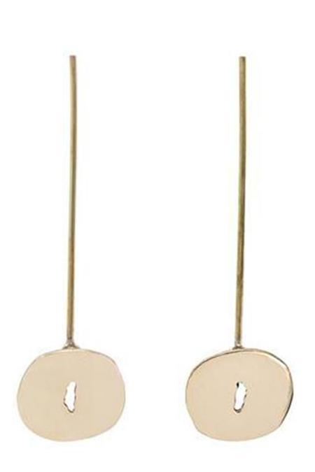 Modern Weaving Mis-Shaped Ovals on Stem Earrings