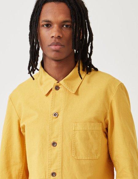 Vetra French Workwear Dungaree Wash Twill Short Jacket - Pineapple Yellow