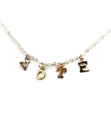 Jennifer Tuton Vote Necklace - 14k Goldfill