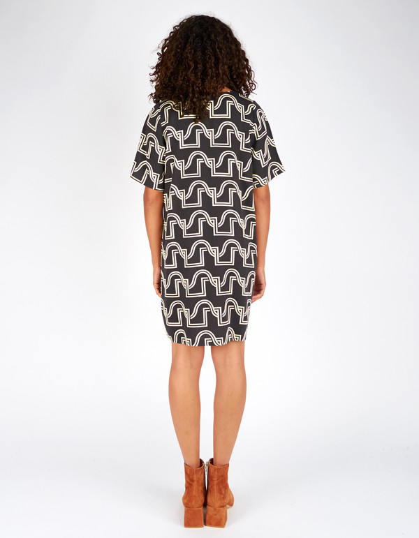 Dusen Dusen Short Yes Dress Black Duo Weave