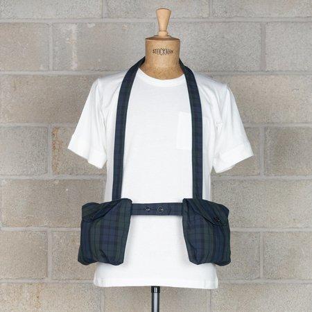 Engineered Garments Waist Bag in Nyco Cloth - Blackwatch