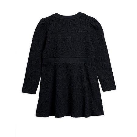kids mini rodini flower patch sweatdress - black