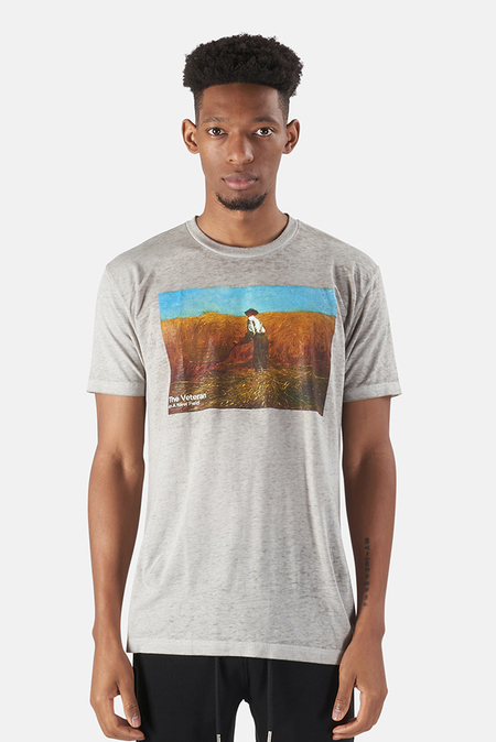KINETIX x Blue&Cream New Fields Graphic T-Shirt - Grey