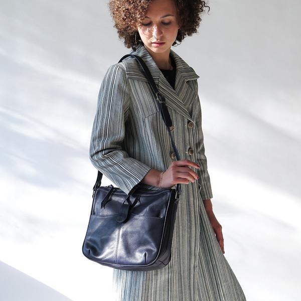 Erica Tanov leather shoulder bag