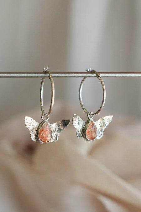 Morgaine Faye Harpy Hoop Earrings with Stone