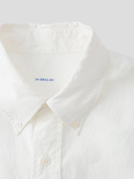 S H SH-BRKS-001 Button Down Shirt - White