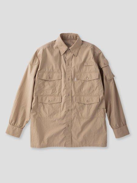 S H SH-LLBN-001 Fishing Shirt - Sand