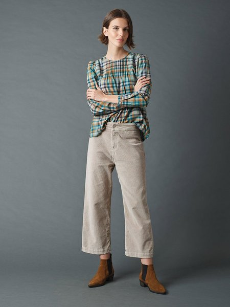 Indi & Cold Crop Cord Trousers - Piedra