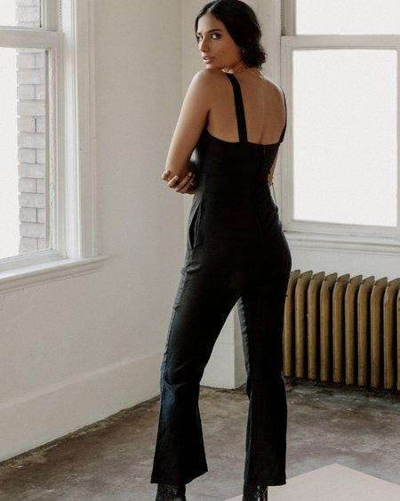 harly jae Bardot Jumpsuit - Black