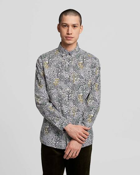 Poplin & Co. Winter Orchard Printed Casual Button Down Long Sleeve Shirt