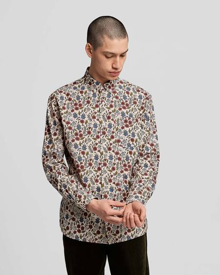 Poplin & Co. Casual Button Down Long Sleeve Shirt - Floral Tapestry Print