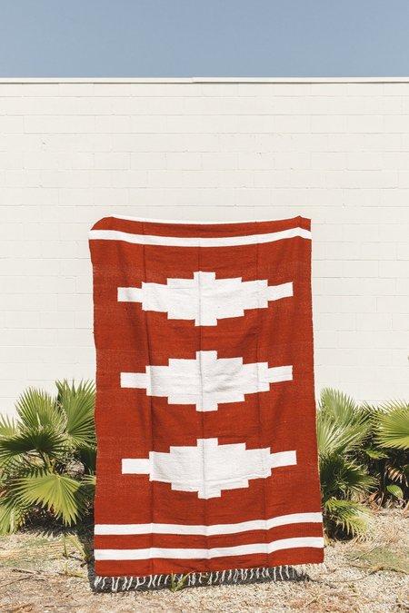 Petra De Luna Mixteca Blanket - Rust