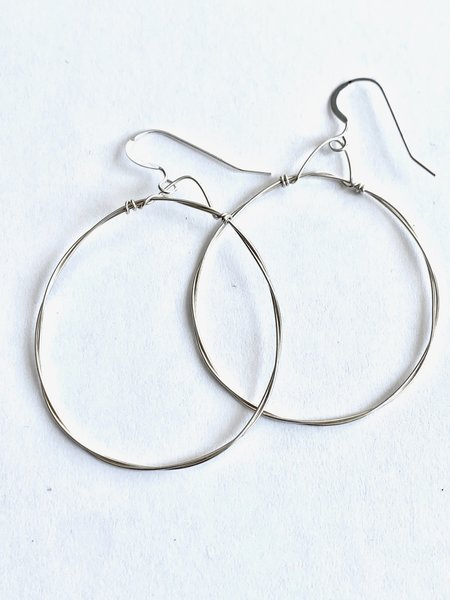 Emma Rose Small Round Hoops - Sterling Silver Wire