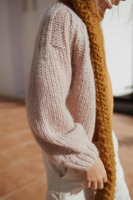 Kids Long Live the Queen Mohair Cardigan - Pinkish