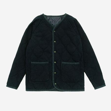 Momotaro Jeans Dobby/Quilting Reversible Jacket - Indigo/Navy
