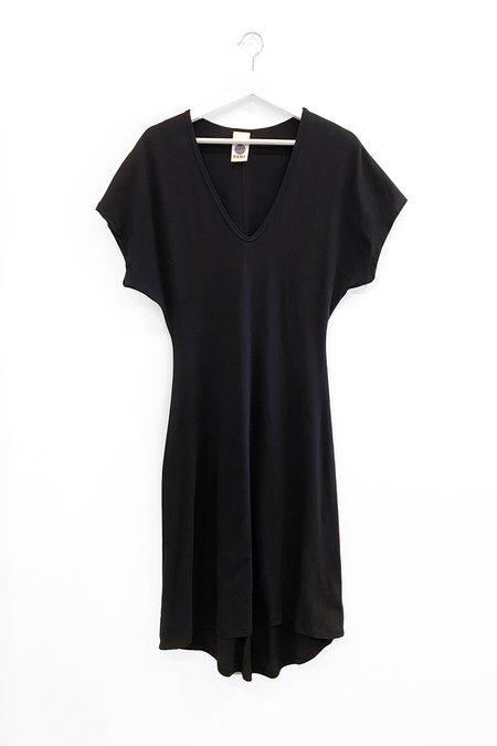 Peri the Label T-Shirt Dress - Black