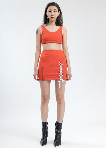 Danielle Guizio Pinstripe Sport  - Orange