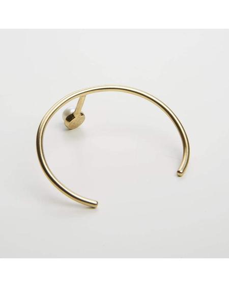 Cornelia Webb T-shaped Cuff Bracelet - Gold/Pearl