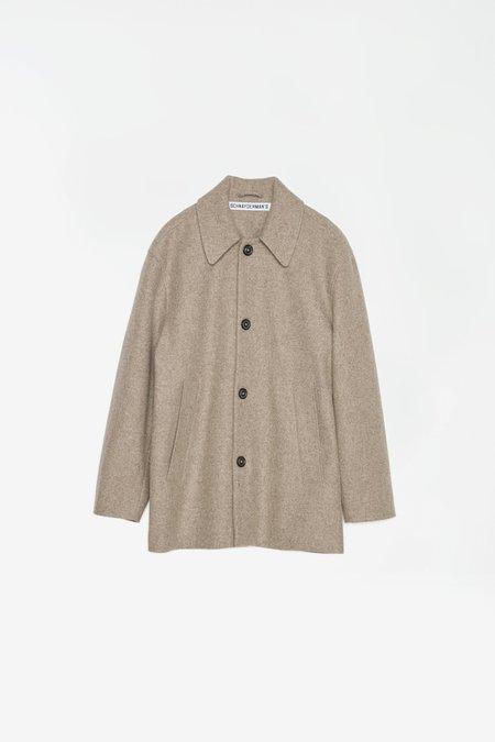 Schnayderman's Melton Wool Jacket - Dark Beige Melange