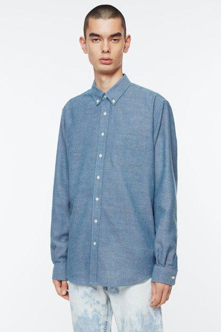 Schnayderman's  Bd Cotton Wool Shirt - Chambray Indigo