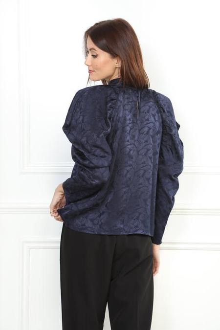 Zero Degrees Celsius Puff Sleeve Blouse - Navy