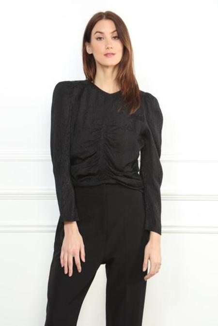 Zero Degrees Celsius Silky Puff Sleeve Blouse - Black