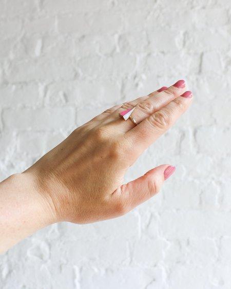 [Pre-loved] Sarah Magid Triangular Ring - Gold