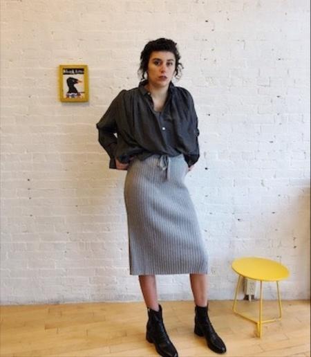 Kowtow Knitted Rib Straight Fit Skirt