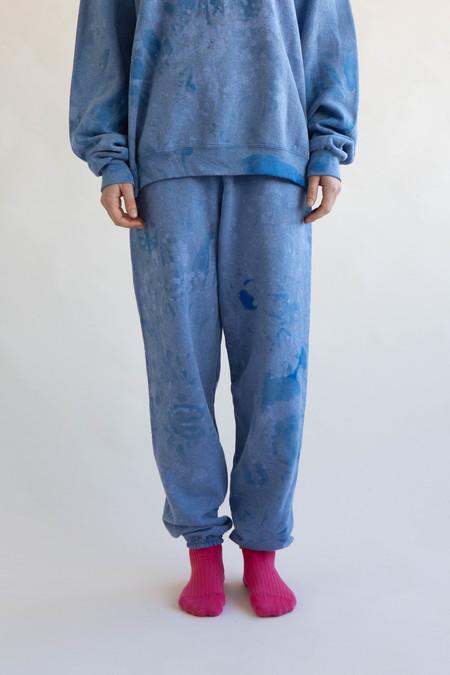 WOLF & GYPSY VINTAGE Tie Dye Joggers - Sky Blue