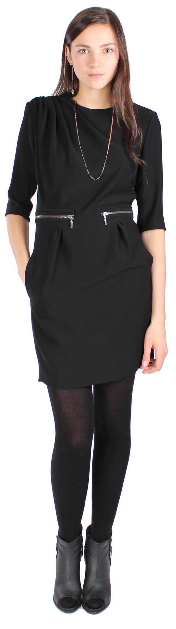 Hoss Intropia Ruched Zipper Dress