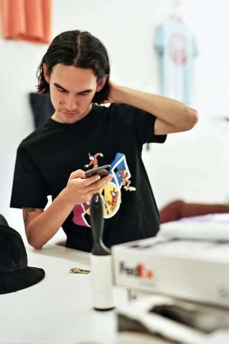 Pop Trading Company Joost Swarte T-Shirt - Black