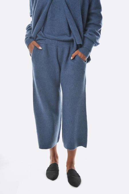 Oyuna Knitted Cropped Trousers - Dove Fluff