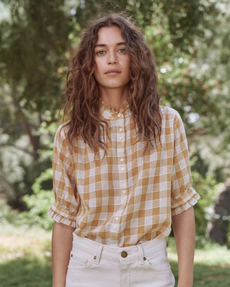 The Great. Cedar Shirt - Buttercup Gingham