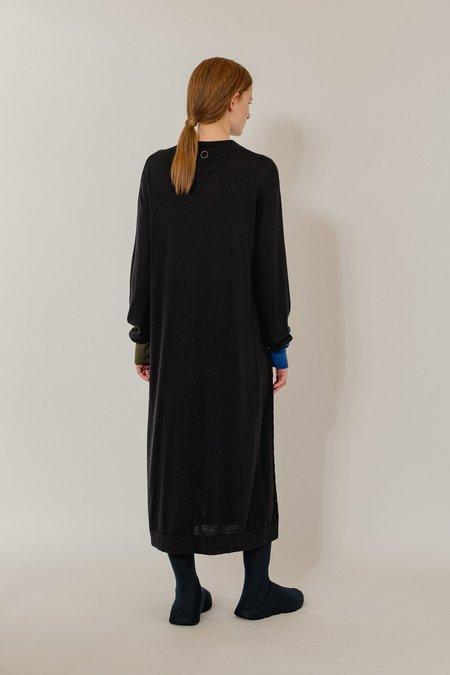 Oyuna Erin Jersey Cotton Cashmere Dress - Black Look