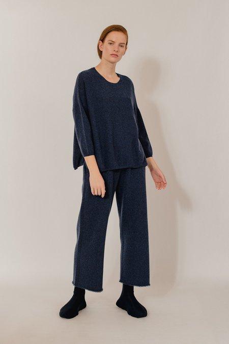 Oyuna Gabi Luxury Cashmere Pullover - Dark Blue Rain