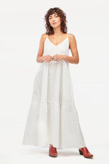 Lacausa Crosby Dress - White Dots