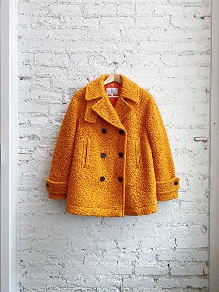 Dear Miler Wool Pea Coat - Orange
