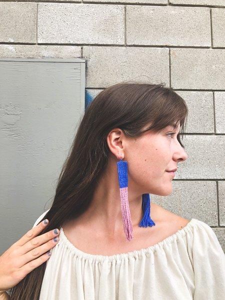 Salihah Moore Lola Earrings - 14kt gold fill/Purple/Blue