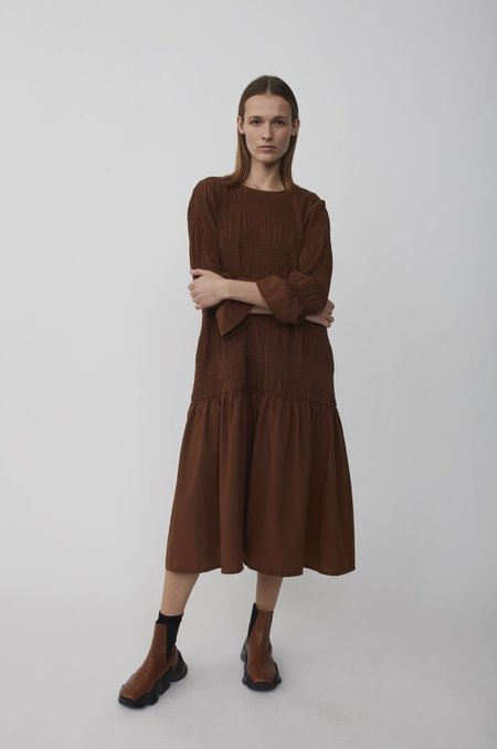 Just Female Lucille Dress - Cinnamon