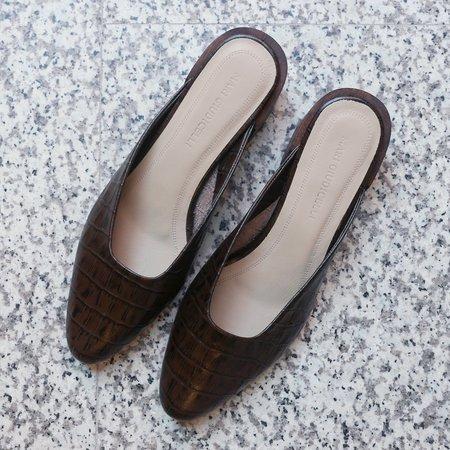 Mari Giudicelli Leblon Mule - Croco Pinhao