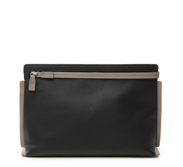 Black Large Pochette Clutch by Bonastre