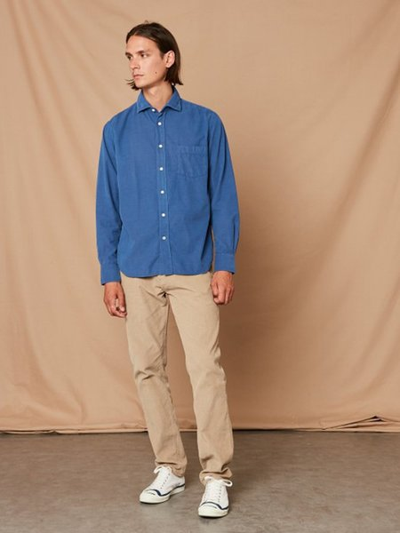 Hartford Paul Corduroy Shirt - Ocean
