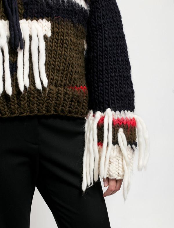 Christopher Raeburn Womens Hand Knit Shaggy Jumper