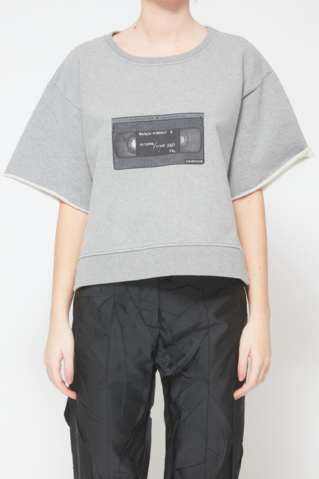 MM6 Maison Margiela VHS Sweatshirt - Heather Grey