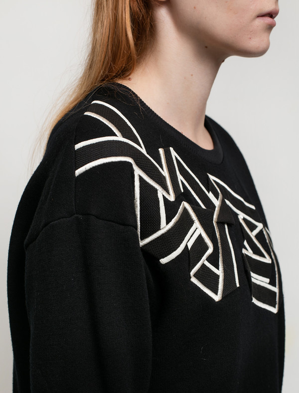 Christopher Raeburn Womens Tape Merino Crewneck Sweatshirt