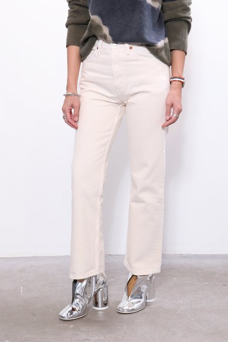 RE/DONE 70s Crop Boot - White